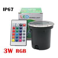 led-beleuchtung für fabriken großhandel-Fabrikpreis 3W RGB LED Untertagelicht im Freien wasserdichtes IP67 begraben vertiefte Bodenlampe DC12V / AC85-265V