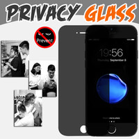 Wholesale Iphone 4s Real - Privacy Tempered Glass Screen Protector Anti-Spy 9H 2.5D Hardness Premium Real Film Protective Guard For iPhone X 8 7 Plus 6 6S 5 5S 4 4S