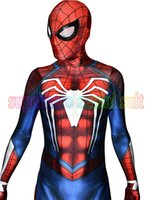 TV & Movie Costumes spider man kids games - NEW PS4 INSOMNIAC SPIDERMAN COSTUME D Print Spandex Games Spidey Suit Fullbody Spider Man Superhero Costume Hot Sale