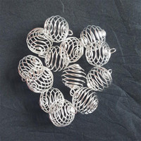 Wholesale 100 SP Spiral Bead Cages Pendants Findings x20mm