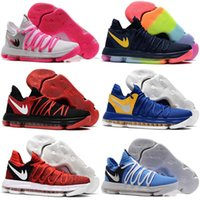 Wholesale Cheap Kd Shoes Free Shipping - Free Shipping 2017 NEW Cheap KD 10 Oreo Finals PE Still KD Sneakers Mens Basketball Shoes