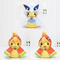 Wholesale Stuffed Lugia - 22cm 2styles Poke XY Pikachu Cosplay Mega Lugia Ho-Oh Kawaii Cotton Soft Stuffed Plush Toys Doll Christmas Gifts
