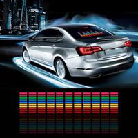 araba müzik ritim lamba sesi toptan satış-Araba Sticker Müzik Ritm Yanıp Sönen LED Işıkları Lamba Ses Aktif Ekolayzer