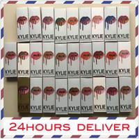 Wholesale Lip Liner Kit - 34color KYLIE JENNER LIP KIT liner Kylie Lipliner pencil Velvetine Liquid Matte Lipstick in Red Velvet Makeup Lip Gloss Make Up 50pcs