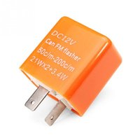 Wholesale Electronic Flasher - 2 pin 12V Motorcycle Bike Flasher Relay Resistor for Led Indicator Electronic LED Turn Signals Relay Fix Flasher Blinker