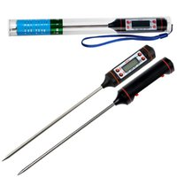 Wholesale Meat Cooking Thermometer - 400pcs lot free shipping Digital Probe Meat Kitchen Cooking BBQ Thermometer (DY)