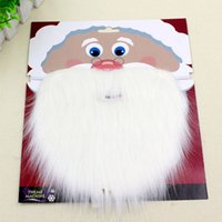 Wholesale Mustache Props - Christmas Santa White Fake Beard Mustache Whiskers Unisex Fancy Dress Xmas Cosplay Party Stage Performance Props ZA3585