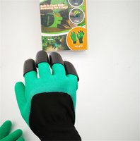 découper des gants achat en gros de-Gants de jardin Genie avec 4 griffes Unisexe résistant à l'eau Nitrile résistant Non usé Fingertips Gants de griffes pour creuser Plantation Nouveau