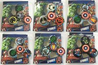 Wholesale Usa Presents - Super Avengers Captain USA Tri Fidget Hand Spinner Gyro Finger For Autism EDC ADHD Toys Anxiety Hand Game Kids Birthday Present Gift