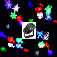 Wholesale Professional Outdoor Christmas Lights - Laser Projector Lamps LED Stage Light Heart Snow Spider Bowknot Bat Christmas Party Landscape Light Garden Lamp Outdoor Lighting