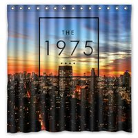 Wholesale New York Shower - Custom The 1975 Indie Rock Band New York Fans Printed Size 180cmx180cm 100% Waterproof Polyester Shower Curtain
