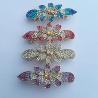 Wholesale Paper Clip Top - Creative diamond hairpin hair clip top new women's Flower Hair Clips factory wholesale