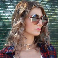 Wholesale Transparent Shorts Girls - 2Pcs Metal Love Heart Round Circle Collar Choker Clear Transparent Necklace For Women Girls Harajuku Punk Short Necklace