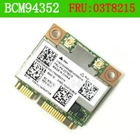 Wholesale Pci Express Lan Card - Wholesale- BCM4352HMB 03T8215 802.11AC 867 MHz Wireless Bluetooth Card for IBM BCM4352 802.11AC Wireless LAN MAC Y410P Y430P Y510P E73 M78