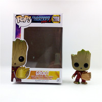 Wholesale Big Vinyl - LilyToyFirm FUNKO POP Guardians of the Galaxy #208 Groot Vinyl Bobble Head Action Figure Anime Figure Collectible Model Toy