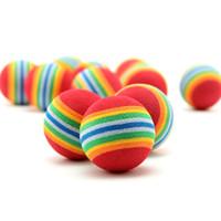 Wholesale Pet Foams - Nice 30Pcs Colorful Pet Rainbow Foam Fetch Balls Training Interactive Dog Funny Toy Soft TT355