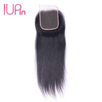 "Wholesale brazilian hair supplies - Cheap Brazilian Straight Hair 4x4 Lace Closure 1 Piece Straight Virgin Human Hair Lace closure Three Middle Free Part 8""-20"" Beauty Supplies"