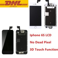 Wholesale Work Speakers - LCD Display For iPhone 6s 4.7inch Touch Screen Digitizer Assembly With Home Button + Front Camera + Ear Speaker Working 3D Touch Wholesale