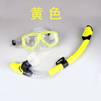 Wholesale Underwater Pool Glass - Wholesale- New Professional Scuba Diving Mask Snorkel Glasses Set Underwater Silicone Swimming Fishing Pool Equipment