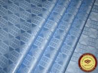 Wholesale Damask Guinea Brocade - Germany Quality Jacquard Damask Sky Blue Bazin Riche Guinea Brocade African Garment Cotton Fabric African Garment Fabric 100% Cotton