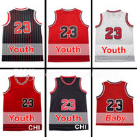 Wholesale New Baby Arrival - Youth Kid's Baby #23 Throwback Mesh Basketball Jersey Rev 30 Embroidery Sportswear Jerseys Retro S-2XL 44-54 wholesale new arrival