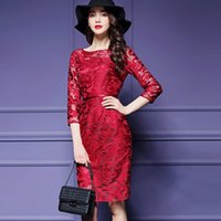 Wholesale Dresses Daily - 2017 New elegent maid dress large size women slim sexy fashon long dress female embroidery daily dress frown
