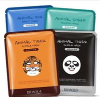 Wholesale Panda Tea - BIOAQUA Tiger Panda Sheep Dog Shape Animal Face Mask Moisturizing Oil Control Hydrating Nourishing Facial Masks Free shipping