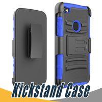 Wholesale Green Streaks - Kickstand Armor Case PC+TPU Shockproof 3 in 1 For Alcatel Idol 3 Stellar Pop 3 Dawn Streak 5027B One Touch fierce XL Elevate Conquest