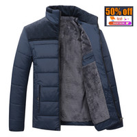 Wholesale Winter Coats For Slim Men - Wholesale- 2016 new Brand winter warm Jacket for men hooded coats casual mens thick coat male slim casual cotton padded down casual warm