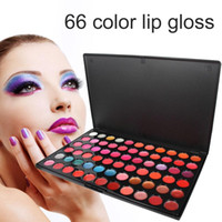Wholesale 66 lip resale online - 66 Color Lip Gloss Lipstick Palette Nude Moisturizing Cream Lipstick Professional Makeup Cosmetic Lip Product for photo studio