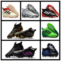 Wholesale Dragon Lights - 2017 hot sale ace 17 purecontrol fg Dragon soccer cleats for sale boots mens soccer shoes ace 17 original football boots gold New Blue