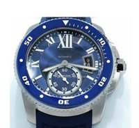 Wholesale Blue Sapphire Round Gem - Luxury High Quality Watch Calibre De Diver WSCA0011 Blue Dial And Rubber Band 42mm Automatic Movement Watch BRAND NEW Mens Watch Watches