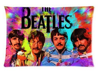 Wholesale Beatles Pillows - 2pcs Custom The Beatles Pattern Zippered Cotton Polyester Pillow Case 20x30 (Twin sides)