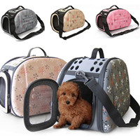 Wholesale dog cages resale online - 2017 Foldable Dog Travel Carrier Bag Mayitr Pet Puppy Cat Tote Carry Cage Bag Crates Kennel
