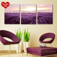 Frame DIY Oil Painting by Numbers Pictures on Wall Acrílico Resumo Desenho Original Gift Hand Paint Lavender Flowers Color Decor