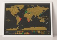 Wholesale R Plane - New In Stock Deluxe Scratch Map Deluxe Scratch World Map 82.5 x 59.5cm 60pc R h48