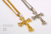 Wholesale Cheap Jesus Necklace - Jewelry Sets Cheap Choker Necklaces For Women Silver Jesus cross Hip hop necklace Jewelry Alloy 175
