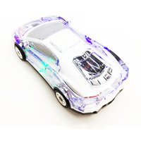 Wholesale Car Shape Speaker Portable - MLL-63 Colorful Crystal LED Light Car Shape Mini Portable Bluetooth Wieless Speaker Subwoofer Stereo Support USB FM Radio MP3 Music Player