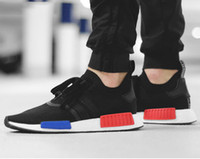 Wholesale Original Authentic - Originals 2017 NMD R1 OG Primeknit PK men women Perfect Authentic Running Sneakers Fashion Running Shoes NMD Runner Primeknit sport Sneaker