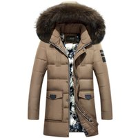 Wholesale Mens White Coat Sale - New Fashion Brand Mens Winter Jackets And Coats Hooded Collar Winter Coat Men High Quality Warm Parka Men Down Hot Sale 2016 jacket for man