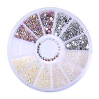 1 Box Bunte Resin Nail Strass Jelly Nail Art Studs 3D Nail Art Dekorationen in Rad Maniküre Tip Zubehör