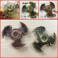Новый Tri-Spinner Eagle Fidget Spinner Toy Zinc Alloy EDC Gyro Toys Finger Top Spinner Hand Для детей Взрослые игрушки