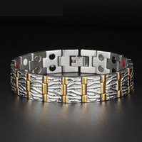 Wholesale New Arrival Titanium Steel Magnetic Bracelet Nano Energy Hearth Bracelet in1 Hand Chain European Style For Mens Hot Sale