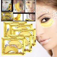 Wholesale Essence Powder - Wholesale- 10pairs Collagen Gold Powder Essence Eye Mask Natural Crystal Anti-Aging Anti-Puffiness Eyelid Patch Moisturizing Gel Skincare