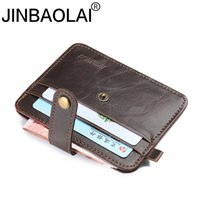 Wholesale real fur pieces - Wholesale- 100% genuine leather men wallets women real leather crazy horse wallet one piece bag money male purse mini purse small thin