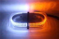 Wholesale blue light beacon - 2017 High power amber&White 240 Car LED Waterproof Magnets Strobe Light Warning light Beacon EMERGENCY Police firemen Light