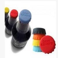 Wholesale Cork Lids - Lids Silicone Beer Bottle Cap Sealing Plug Wine Corks Seasoning Cap Silicone Creative Bottle Covers Kitchen Supplies