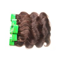 "Wholesale Indian Chocolate Human Hair - Indian Body Wave Virgin Hair 10PCS 500g lot Pure Medium Brown #2 Wavy Indian Hair Extensions 14""-22"" Chocolate Color Weave Human Hair"