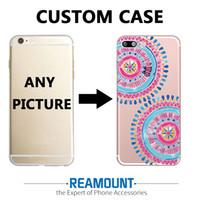 iphone 3d foto großhandel-3D Cartoon Mandalas Anpassen Painted Back Cover Case für iPhone 6 s plus für Samsung s7 Rand DIY Photo Unique Cover Case