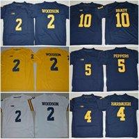 Wholesale Boys Toms - Youth Michigan Wolverines Kids 10 Tom Brady 3 Rashan Gary 2 Woodson #88 Jake Butt 5 Jabrill Peppers 4 Jim Harbaugh 21 Desmond Howard Jersey